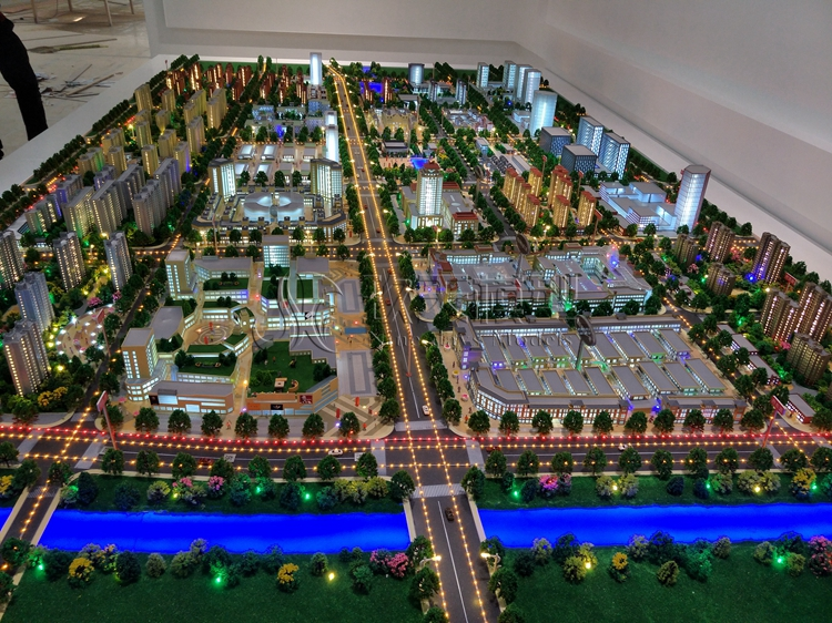 北京盛世玖天模型--郸城商务中心区规划沙盘