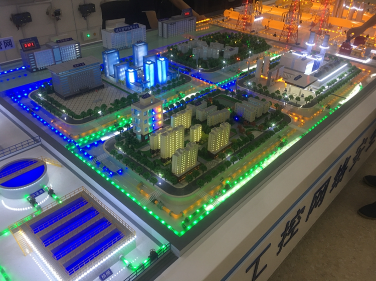 北京盛世玖天模型--天津中芯工控沙盘