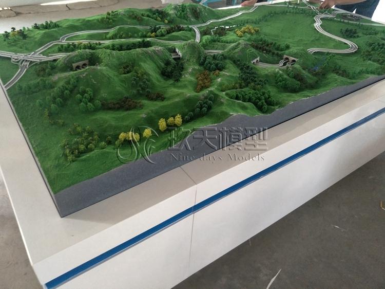 北京盛世玖天模型--延庆冬奥会隧道地形沙盘